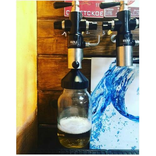 Адаптер для розлива пива в стеклянные банки 3л