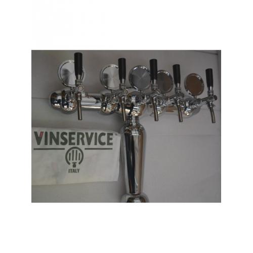 Колонна пивная на 5 выходов Vin service
